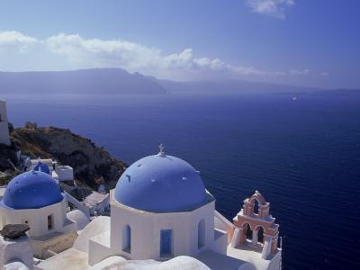 Greek Church, Santorini, Greece-Walter Bibikow-Photographic Print