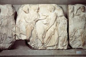 Greek Civilization, Bas-Relief Frieze by Phidias, from South Side of Parthenon, Pentelic Marble