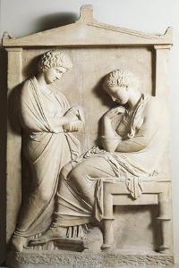 Greek Civilization, Funeral Stele from Piraeus