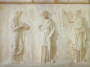 Greek Civilization, Relief Depicting Three Muses