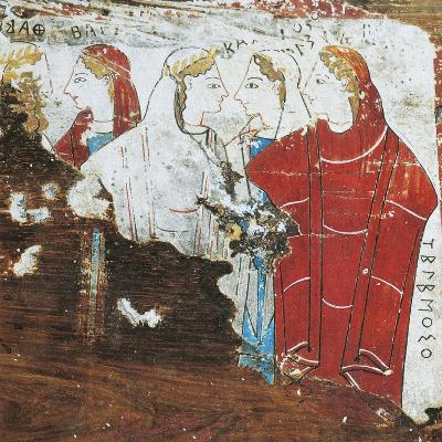 Greek Civilization, Votive Tablet Depicting Group of Women, from Corinth--Giclee Print