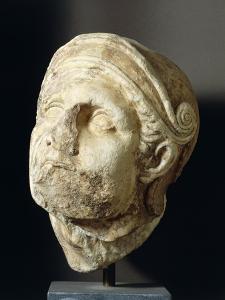 Greek Civilization, Warrior Head from Front of Athena Alea Temple at Tegea