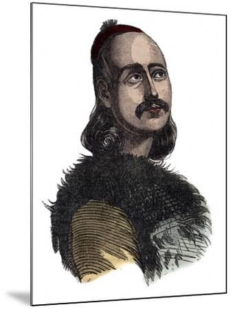 Greek General Markos Botzaris-Stefano Bianchetti-Mounted Photographic Print