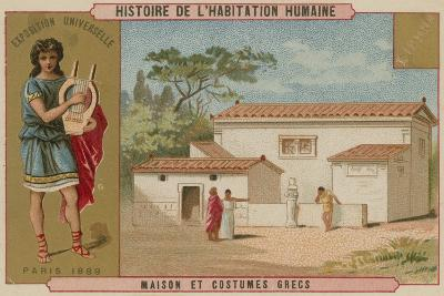 Greek House and Costumes--Giclee Print