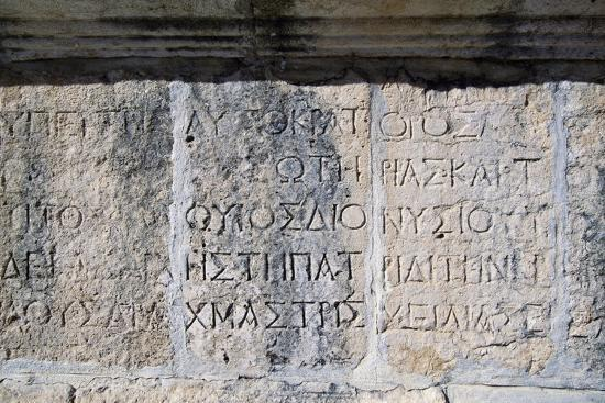 Greek Inscription, Jerash, Jordan BC--Giclee Print