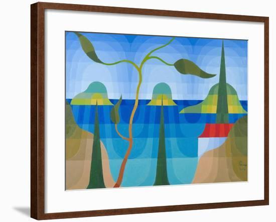 Greek Islands, 2001-Emil Parrag-Framed Giclee Print