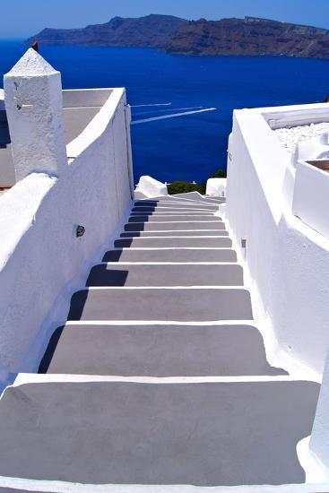 Greek Lane-Jeni Foto-Photographic Print