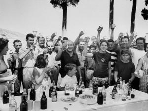 Greek Millionaire Stavros Niarchos with Family