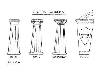 Greek Orders - New Yorker Cartoon-Stuart Leeds-Premium Giclee Print
