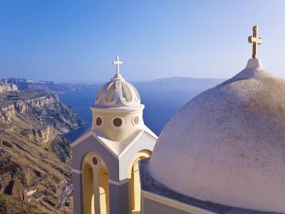 Greek Orthodox Church in Fira, Santorini (Thira), Cyclades Islands, Aegean Sea, Greece-Gavin Hellier-Photographic Print