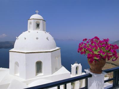 Greek Orthodox Church in Thira, Santorini, Cyclades Islands, Greece-Gavin Hellier-Photographic Print