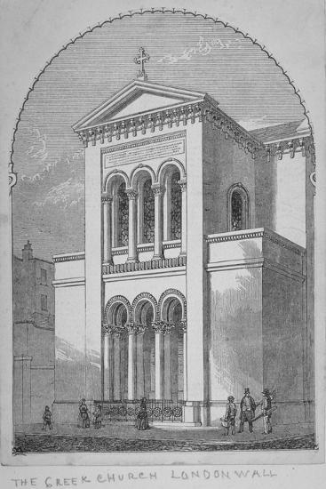 Greek Orthodox Church, Little Winchester Street, City of London, 1850--Giclee Print
