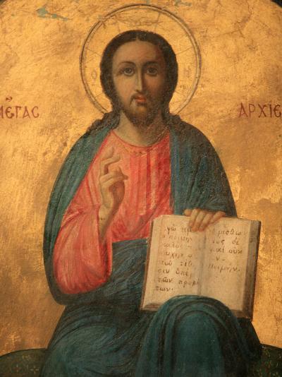 Greek Orthodox Icon Depicting Christ as High Priest, Thessaloniki, Macedonia, Greece, Europe-Godong-Photographic Print