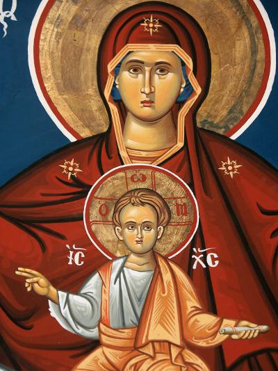 Greek Orthodox Icon Depicting Virgin and Child, Thessalonica, Macedonia, Greece, Europe-Godong-Photographic Print