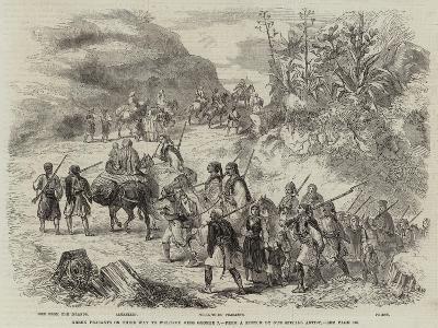 Greek Peasants on their Way to Welcome King George I--Giclee Print