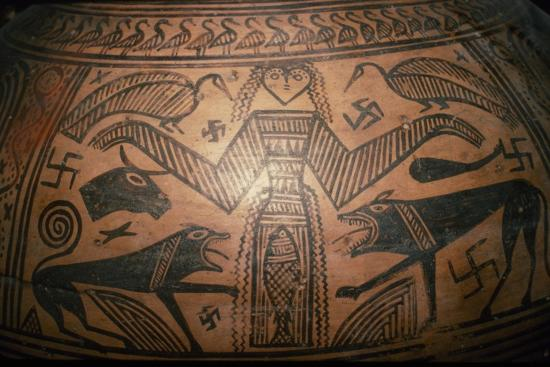 Greek Pithos, (Jar) from Thebes, 7th century BC-Unknown-Giclee Print