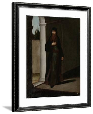 Greek Priest-Jean Baptiste Vanmour-Framed Art Print