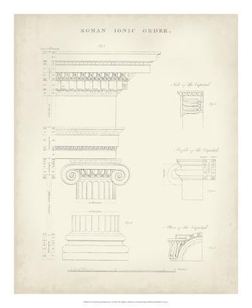Greek & Roman Architecture V-Thomas Kelly-Framed Giclee Print