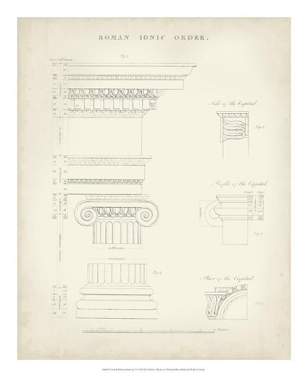 Greek & Roman Architecture V-Thomas Kelly-Giclee Print