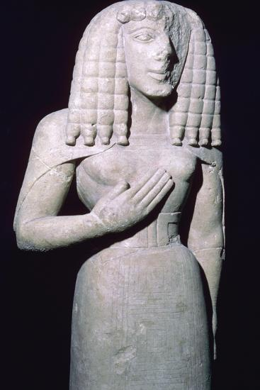 Greek sculpture of the 'Lady of Auxerre', 7th century BC. Artist: Unknown-Unknown-Giclee Print