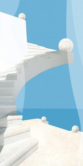 Greek Stairway-Malcolm Sanders-Giclee Print