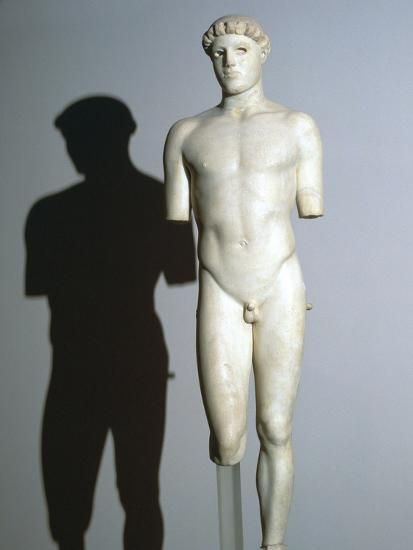 Greek statue known as the Kritios Boy, 5th century BC. Artist: Unknown-Unknown-Giclee Print