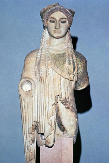 Greek statue Kore 674 from the Acropolis, 6th century BC. Artist: Unknown-Unknown-Giclee Print