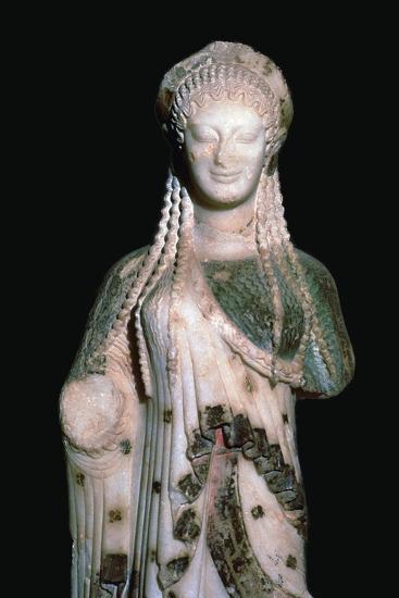 Greek statue Kore 675, 6th century BC. Artist: Unknown-Unknown-Giclee Print
