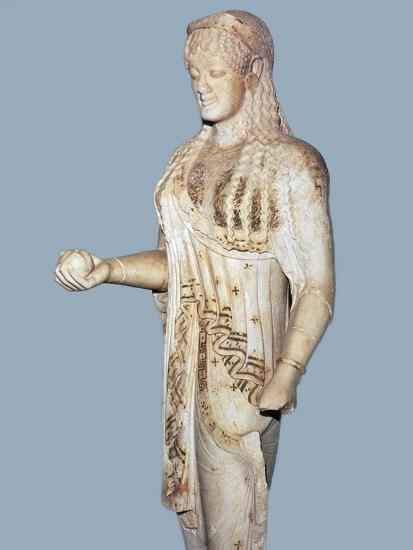 Greek statue of a Kore from the Acropolis, 5th century BC. Artist: Unknown-Unknown-Giclee Print
