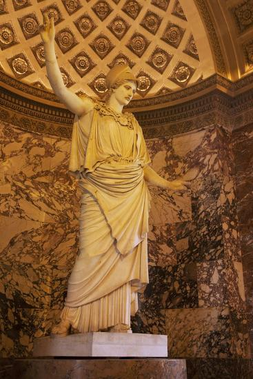 Greek Statue of Athena on Display at Musee Du Louvre, Paris, France-Brian Jannsen-Photographic Print