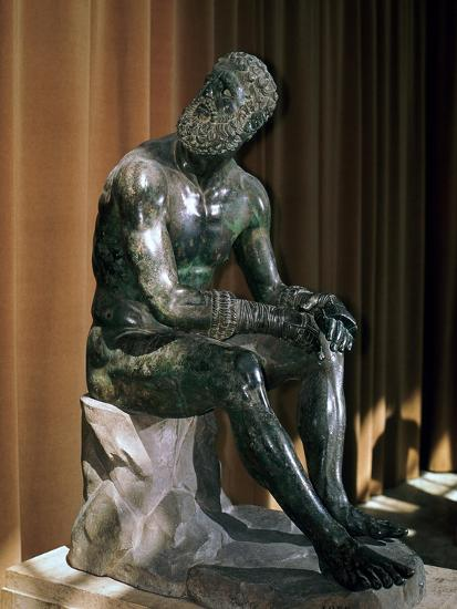 Greek statue, the boxer of Apollonius, 1st century BC. Artist: Unknown-Unknown-Giclee Print