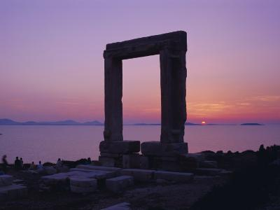 Greek Temple of Apollo, Naxos, Cyclades Islands, Greece, Europe-Gavin Hellier-Photographic Print