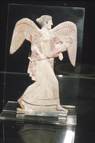 Greek Terracotta, Eos, goddess of Dawn, carries Kephalos, c450 BC-Unknown-Giclee Print