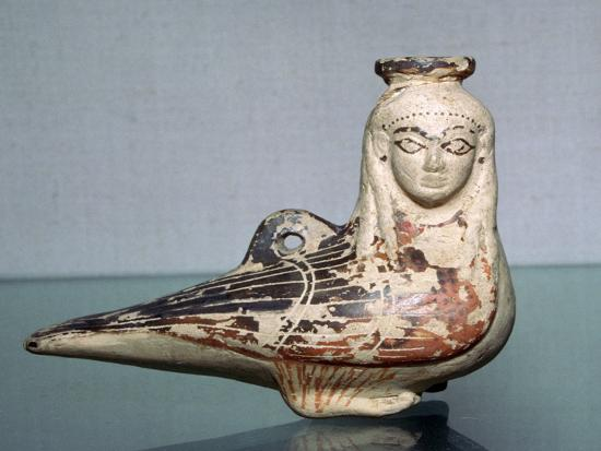 Greek terracotta in the shape of a siren, c570BC. Artist: Unknown-Unknown-Giclee Print