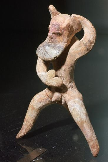 Greek terracotta of a satyr-Unknown-Giclee Print