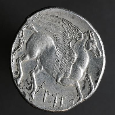 Greek Tristater Struck in Carthage in 260 BC, Depicting Pegaso, Recto, Electrum Coins--Giclee Print