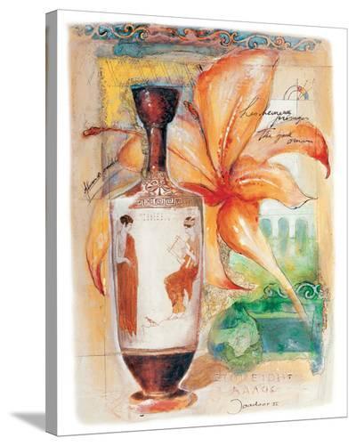 Greek Vase & Firelily-Joadoor-Stretched Canvas Print