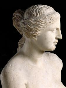 Venus de Milo, Detail of the Head, Hellenistic Period, c.100 BC by Greek