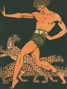 Greek Warrior with Leopards