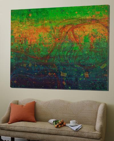Green Abstract-Jefd-Loft Art