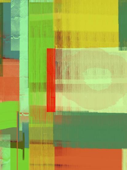 Green and Brown Abstract 3-NaxArt-Art Print