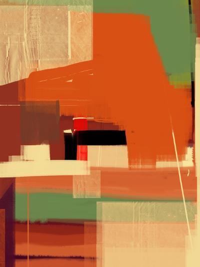 Green and Brown Abstract 4-NaxArt-Art Print
