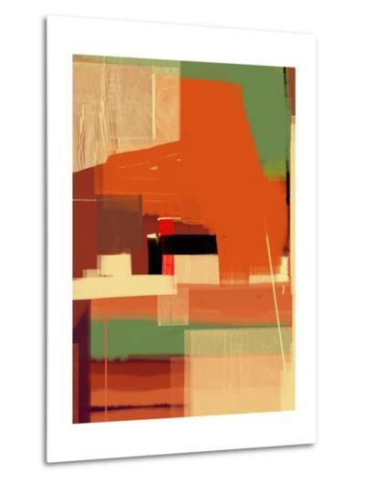 Green and Brown Abstract 4-NaxArt-Metal Print