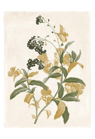 Green And Gold Flowers Two-Jace Grey-Art Print