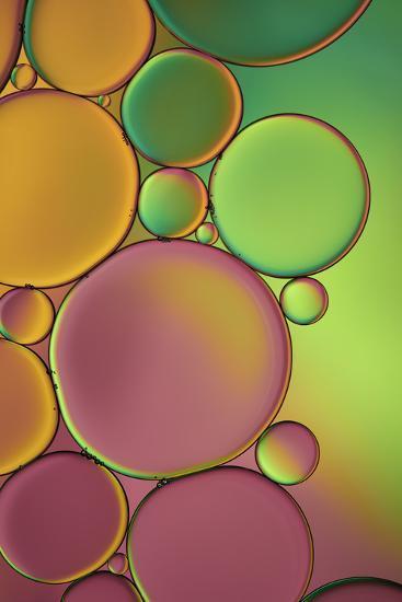 Green and Orange Drops-Cora Niele-Photographic Print