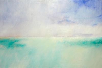 Green and Purple Sea and Sky-Skadi Engeln-Art Print