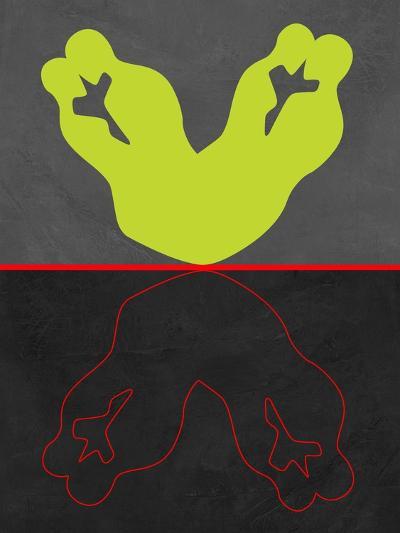 Green and Red Kiss-Felix Podgurski-Art Print