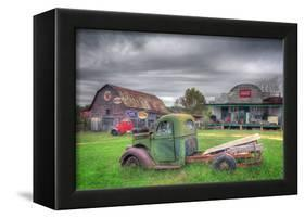 Green and Red-Bob Rouse-Framed Premier Image Canvas