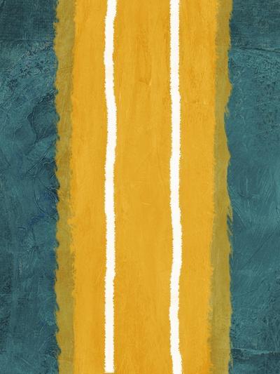 Green and Yellow Abstract Theme 2-NaxArt-Art Print