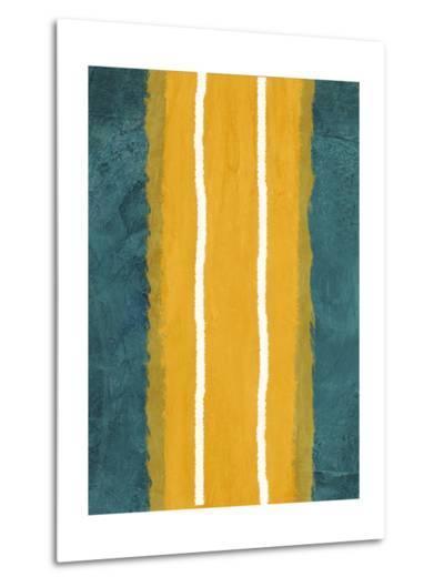 Green and Yellow Abstract Theme 2-NaxArt-Metal Print